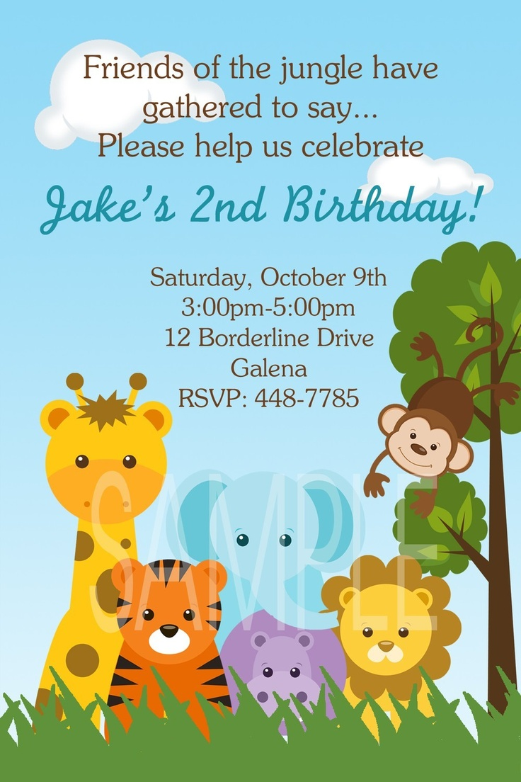1st jungle animal birthday clipart graphic library library Top 25 ideas about Party DIY on Pinterest | Jungle animals, Jungle ... graphic library library