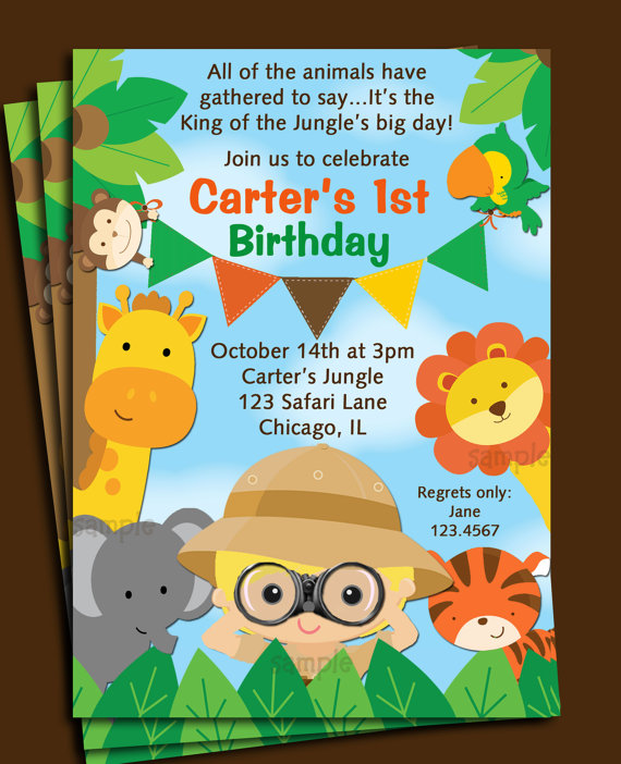 1st jungle animal birthday clipart jpg library library 17 Best images about Safari on Pinterest | Jungle animals, Animals ... jpg library library