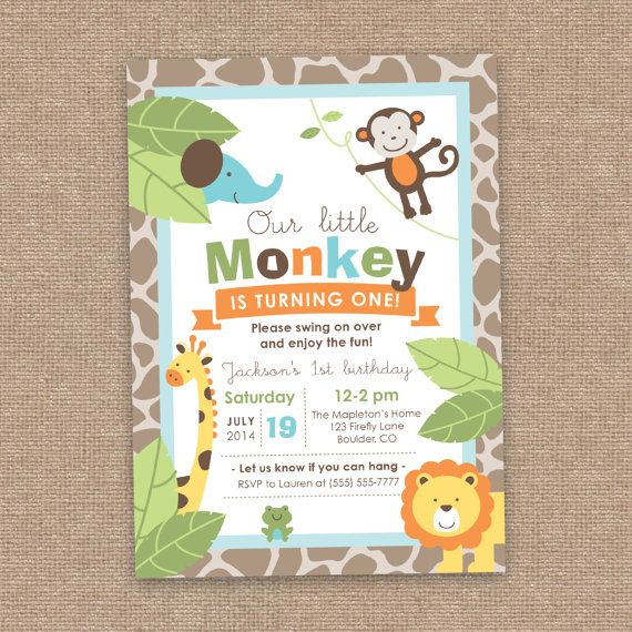 1st jungle animal birthday clipart clip art royalty free stock 1000+ images about MONKEYIN around w/ birthday boy!!!! on ... clip art royalty free stock