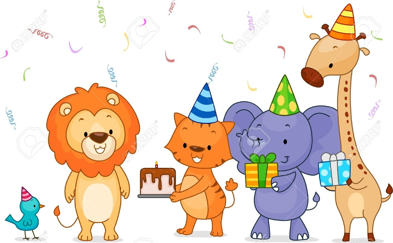 1st jungle animal birthday clipart.  st clipartfest