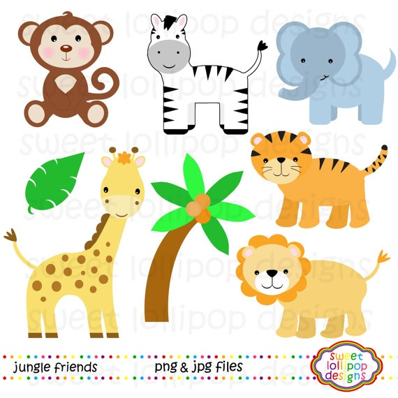 1st jungle animal birthday clipart.  best images about