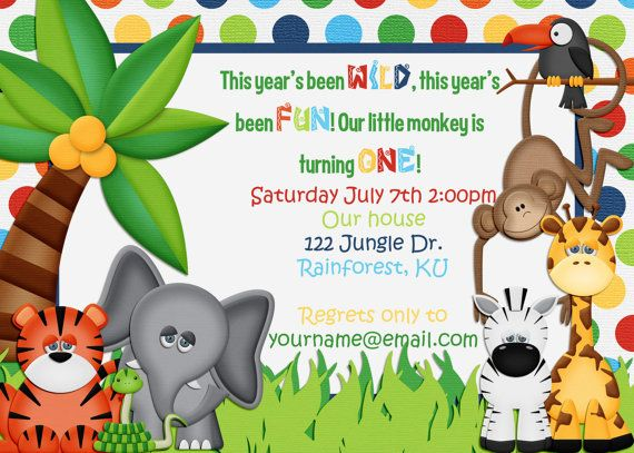 1st jungle animal birthday clipart svg royalty free stock 17 Best images about Safari on Pinterest | Jungle animals, Clip ... svg royalty free stock
