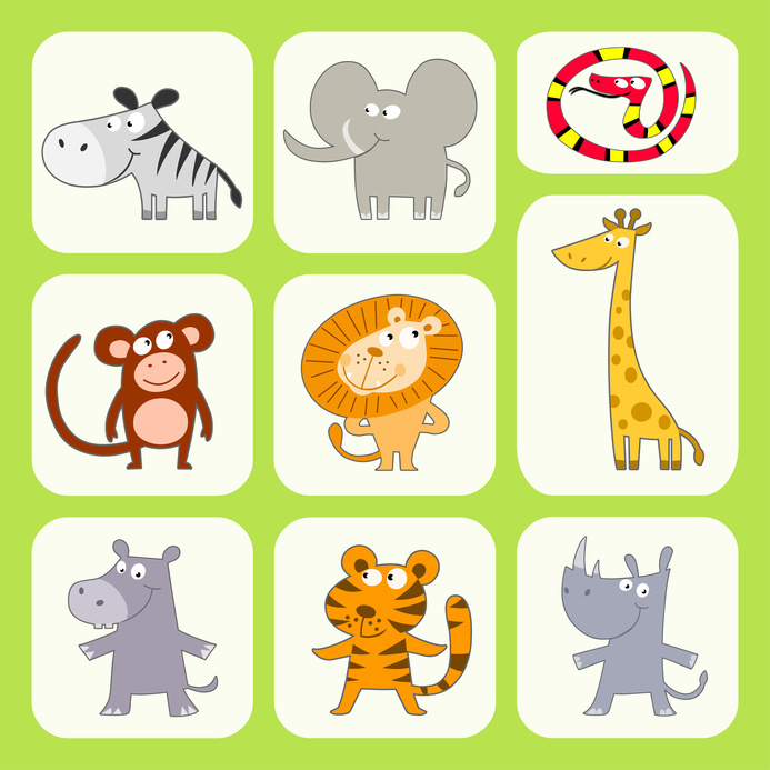 Themed st . 1st jungle animal birthday clipart
