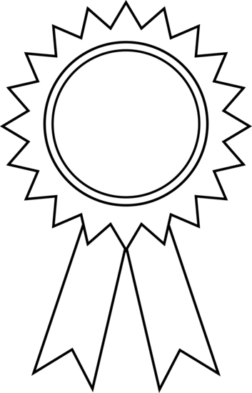 1st place math medal clipart clipart royalty free download Award Ribbon Clipart Outline | Clipart Panda - Free Clipart Images ... clipart royalty free download
