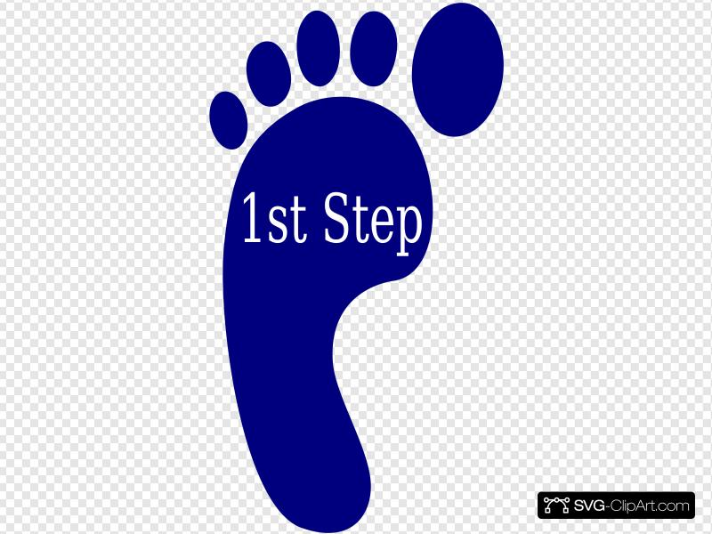 1st step clipart vector black and white stock First Step Clip art, Icon and SVG - SVG Clipart vector black and white stock