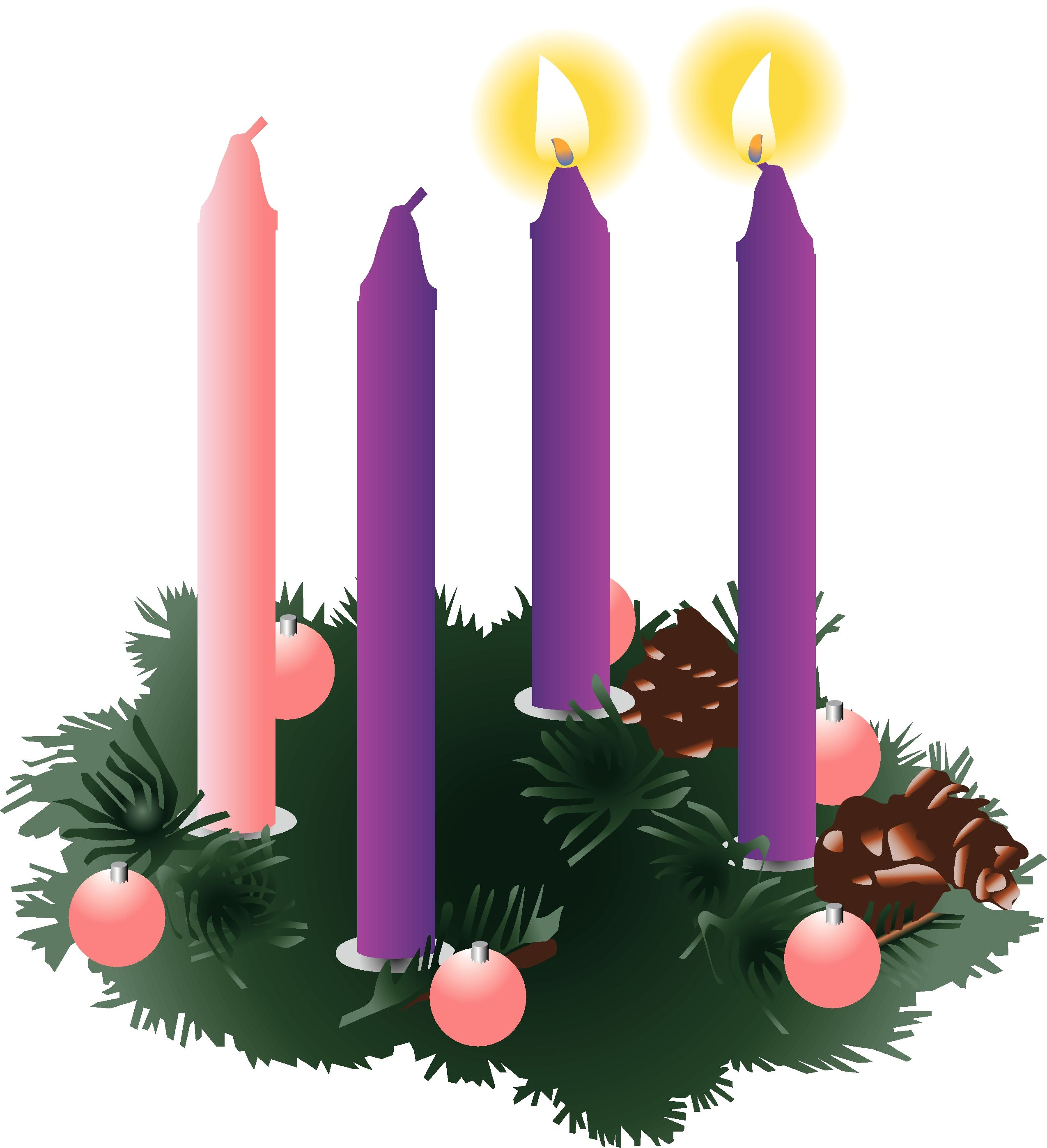 Advent wreath clipart candles vector royalty free download Pics For > Second Sunday Of Advent Hope | Religious Clipart | Advent ... vector royalty free download