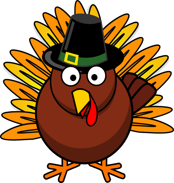 Fighting turkey clipart