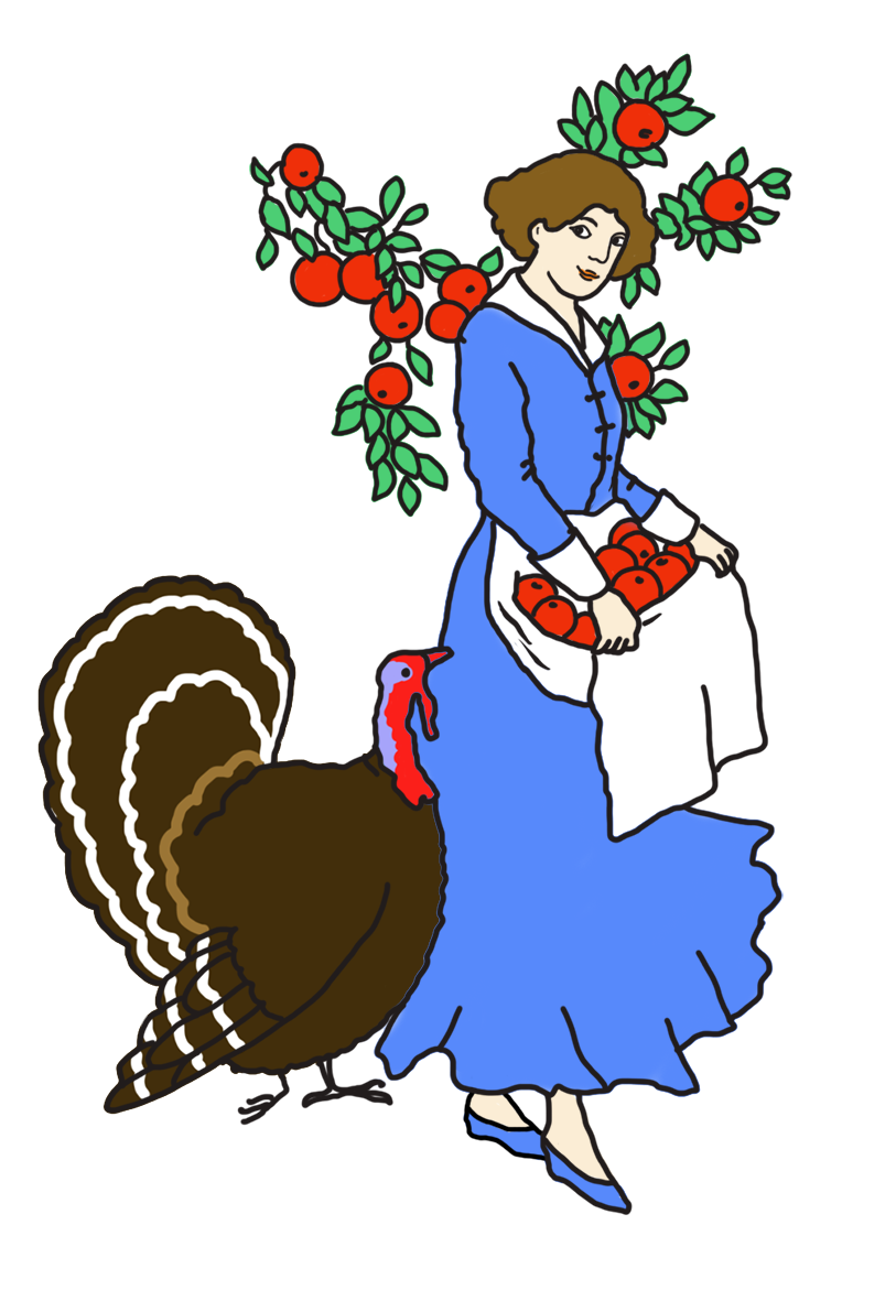 Victorian apple clipart clip free library Happy Thanksgiving Clipart clip free library