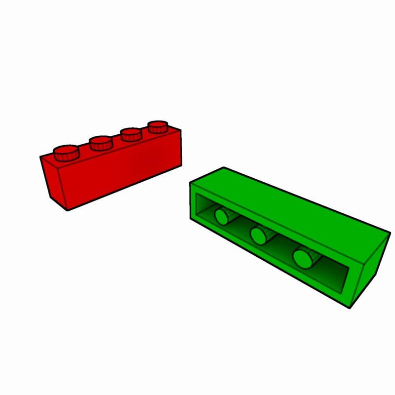 1x4 rectangle clipart jpg library Lego Brick 1x4 Block jpg library