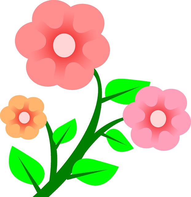 2 3 plantsplant clipart clip art library download Three Plants Flower Flowers Cartoon Border Pink | R\'s book | Flower ... clip art library download