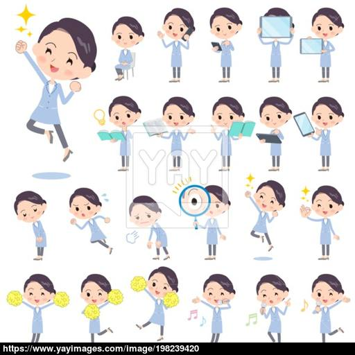 2 6 million people clipart graphic freeuse download White coat women_2 vector | YayImages.com graphic freeuse download