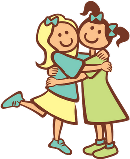 2 adult sisters clipart picture stock Sisters Hugging Clipart | Jeanne Bo Beanne | Friends hugging ... picture stock