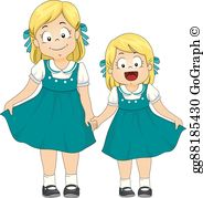 2 adult sisters clipart transparent Sisters Clip Art - Royalty Free - GoGraph transparent