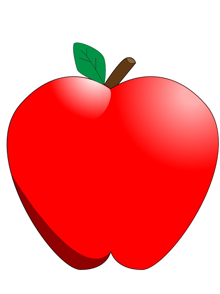 Apple in half clipart banner transparent OnlineLabels Clip Art - Cartoon Apple banner transparent