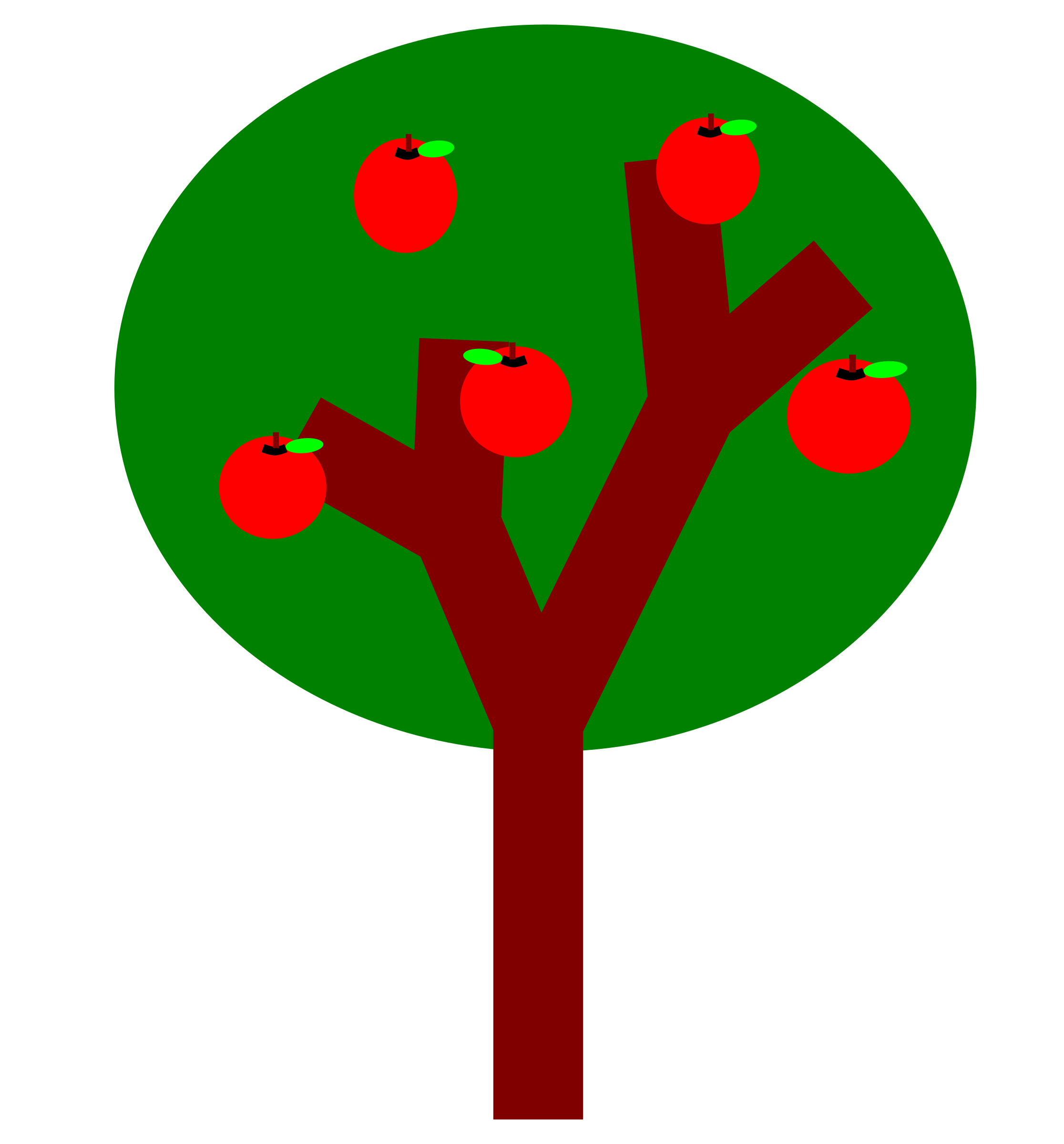 Fall apple trees clipart vector freeuse Clipart - A tree with apples vector freeuse