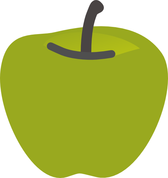 Solid green apple clipart svg library download Green Apple 2 Clip Art at Clker.com - vector clip art online ... svg library download