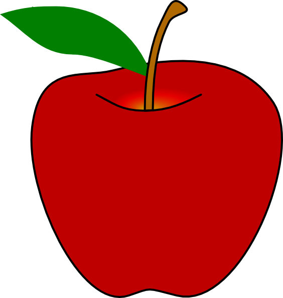 Apple people clipart graphic black and white download Red Apple Clip Art at Clker.com - vector clip art online, royalty ... graphic black and white download