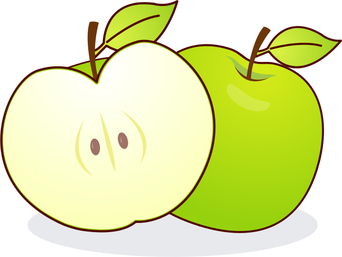 Apple slice clipart black and white clipart freeuse download Big apple clip art big image apples 2 - Clipartix clipart freeuse download