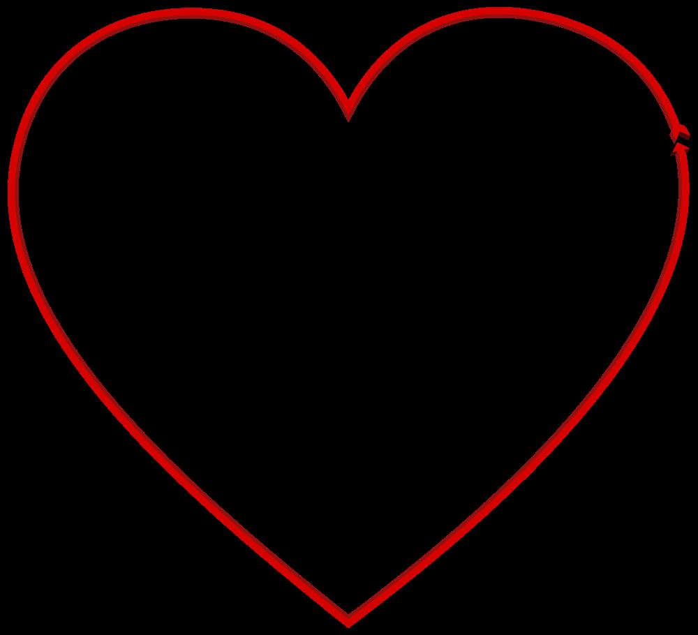 2 arrows heart clipart