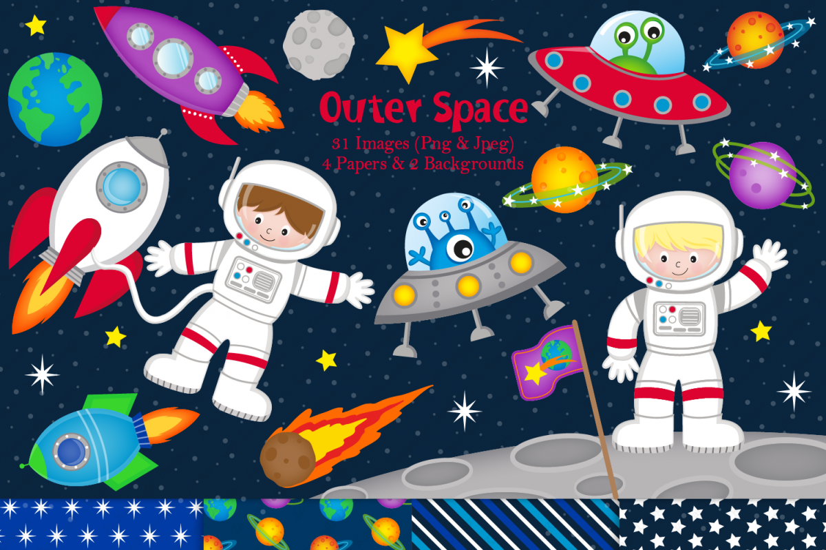 Space design clipart banner free library Space clipart, Space graphics & illustrations, Astronauts banner free library