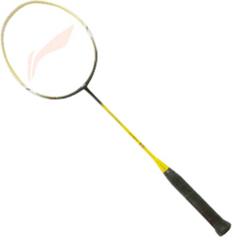 2 badminton racket floor clipart graphic transparent stock Li-Ning SS 68-II Yellow, Black Strung Badminton Racquet graphic transparent stock