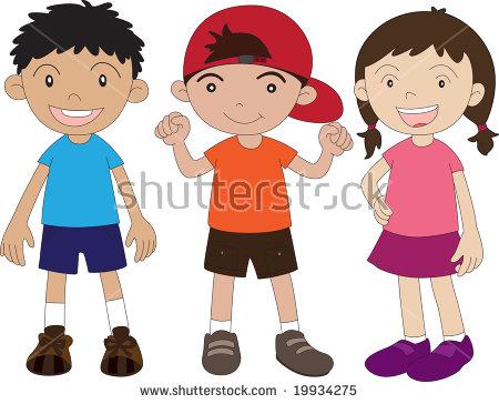 2 boys 1 girl clipart banner freeuse stock Illustration 2 Boys Girl On White Stock Illustration 19934275 ... banner freeuse stock