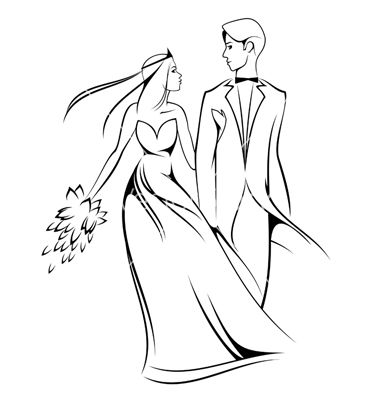 Stick bride and groom clipart vector free download Bride and groom clipart 3 bride and groom silhouette image 2 - Clipartix vector free download
