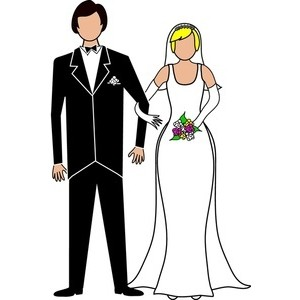 2 brides clipart picture free stock Bride and groom clipart black white free 2 clipartix - Cliparting.com picture free stock