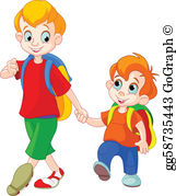 2 brothers clipart picture black and white Brothers Clip Art - Royalty Free - GoGraph picture black and white