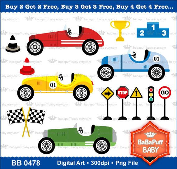 2 cars racing clipart image royalty free stock Buy 2 Get 2 Free Vintage Racing Cars Clipart by babapuffbaby, $5.00 ... image royalty free stock