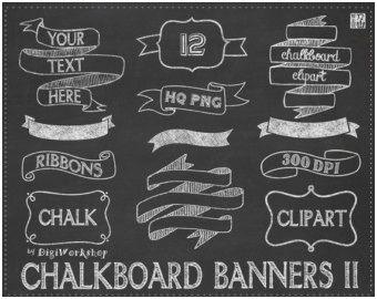 Image result for ribbon clip art chalk | Fonts | Chalkboard clipart ... banner stock