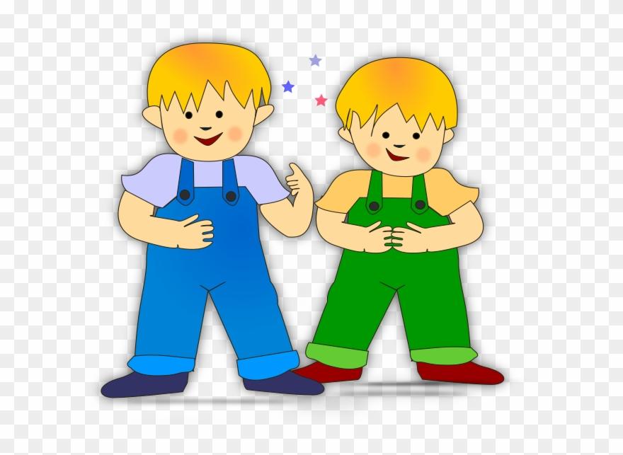 2 children clipart image Cousins Clipart Friendly Child - Clipart 2 Boys - Png Download ... image