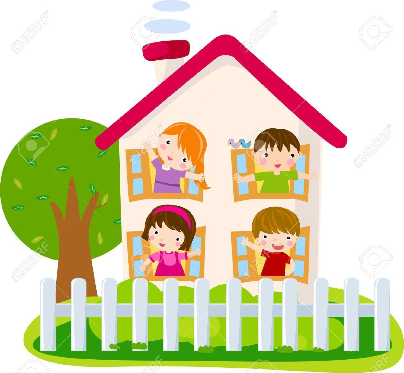 2 children in a new house clipart png transparent download Friends house clipart 2 » Clipart Portal png transparent download