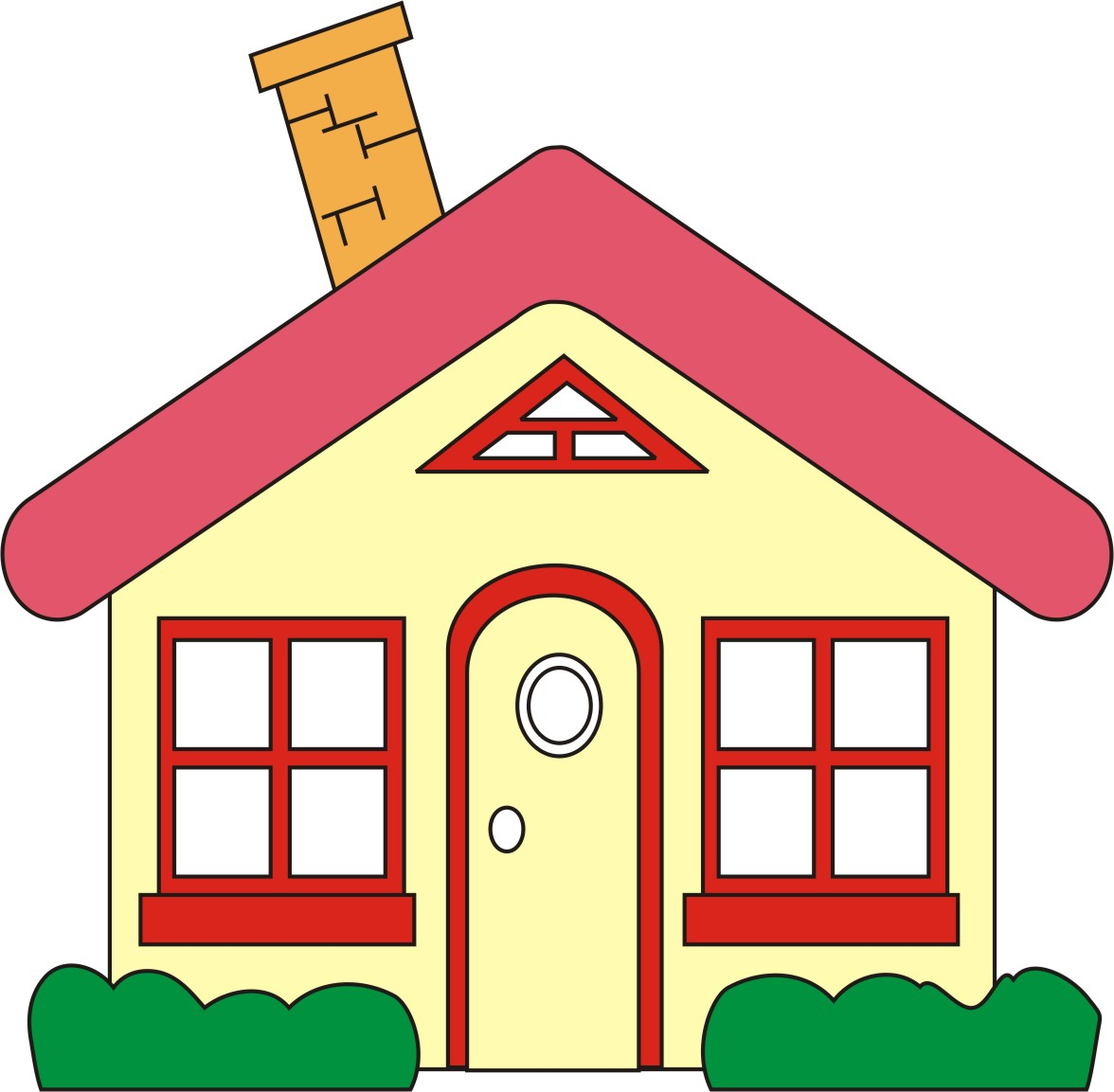 2 children in a new house clipart freeuse download Free Home Clip Art Pictures - Clipartix freeuse download