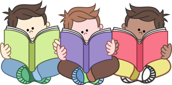 2 children reading clipart png library library Kids reading clipart clipartxtras 2 - ClipartPost png library library
