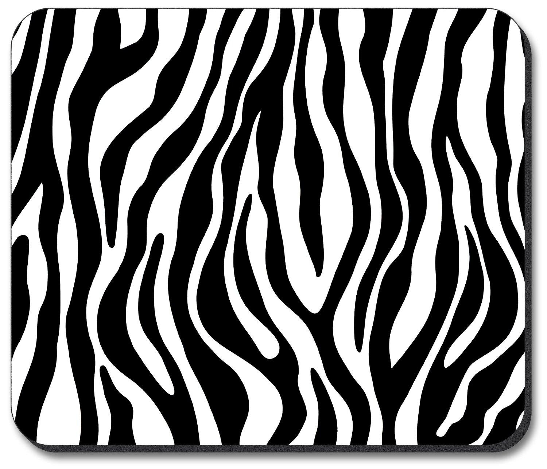 2 clipart black and white zebra print clipart black and white stock Zebra Print - Black White Mouse Pad : Zebra Print - Clip Art Library clipart black and white stock