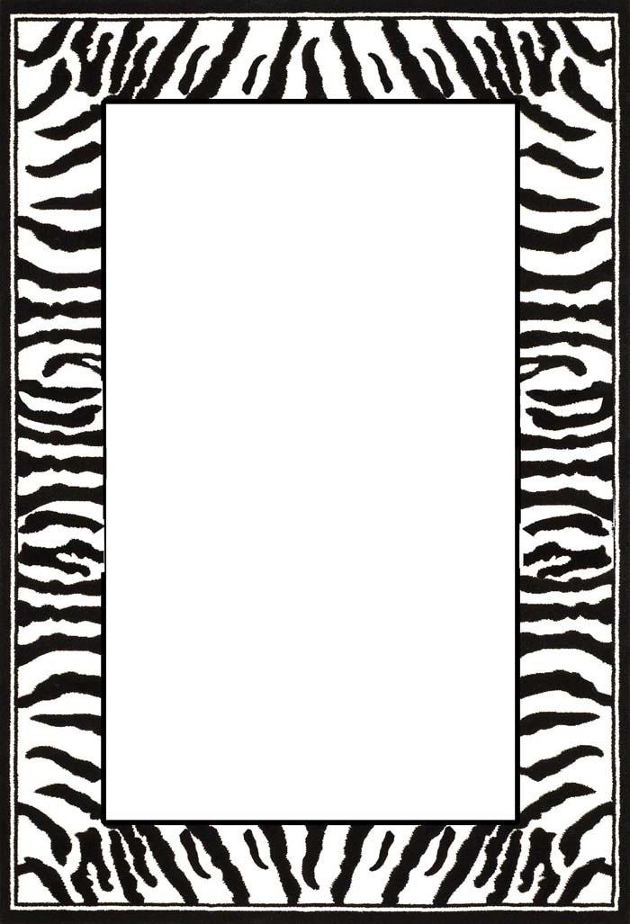 2 clipart black and white zebra print freeuse library Free Zebra Print Border Clipart | Free download best Free Zebra ... freeuse library