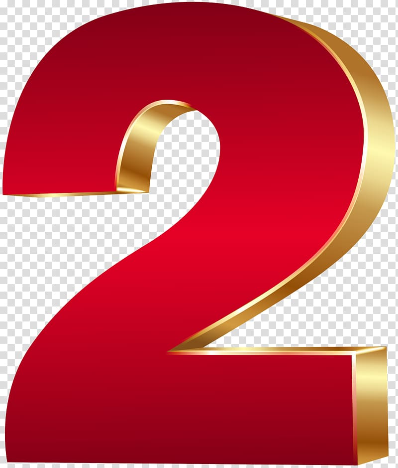 2 clipart png freeuse library Red 2 , Number 3D computer graphics , 3D Number Two Red Gold ... freeuse library