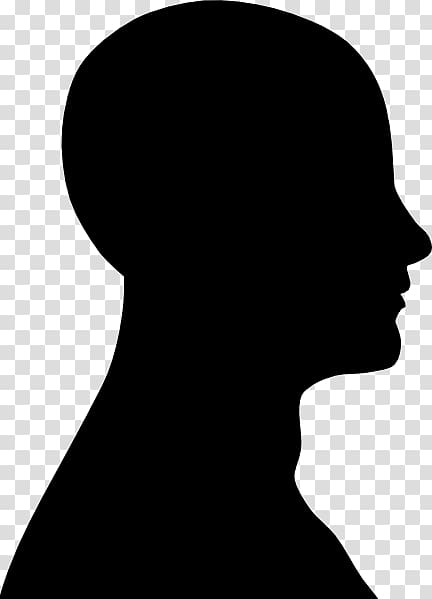 2 clipart silhouette no background image black and white stock Human head Silhouette Face , Face Outline transparent background PNG ... image black and white stock