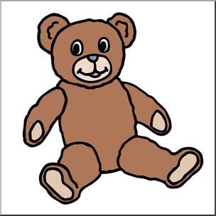 2 color bear clipart