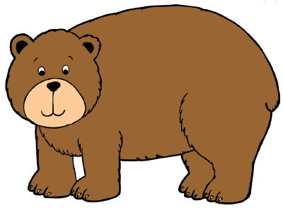 Print color craft . Free bear clipart images