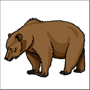 Clipart brown bear free stock Clip Art: Brown Bear Color 2 I abcteach.com | abcteach free stock
