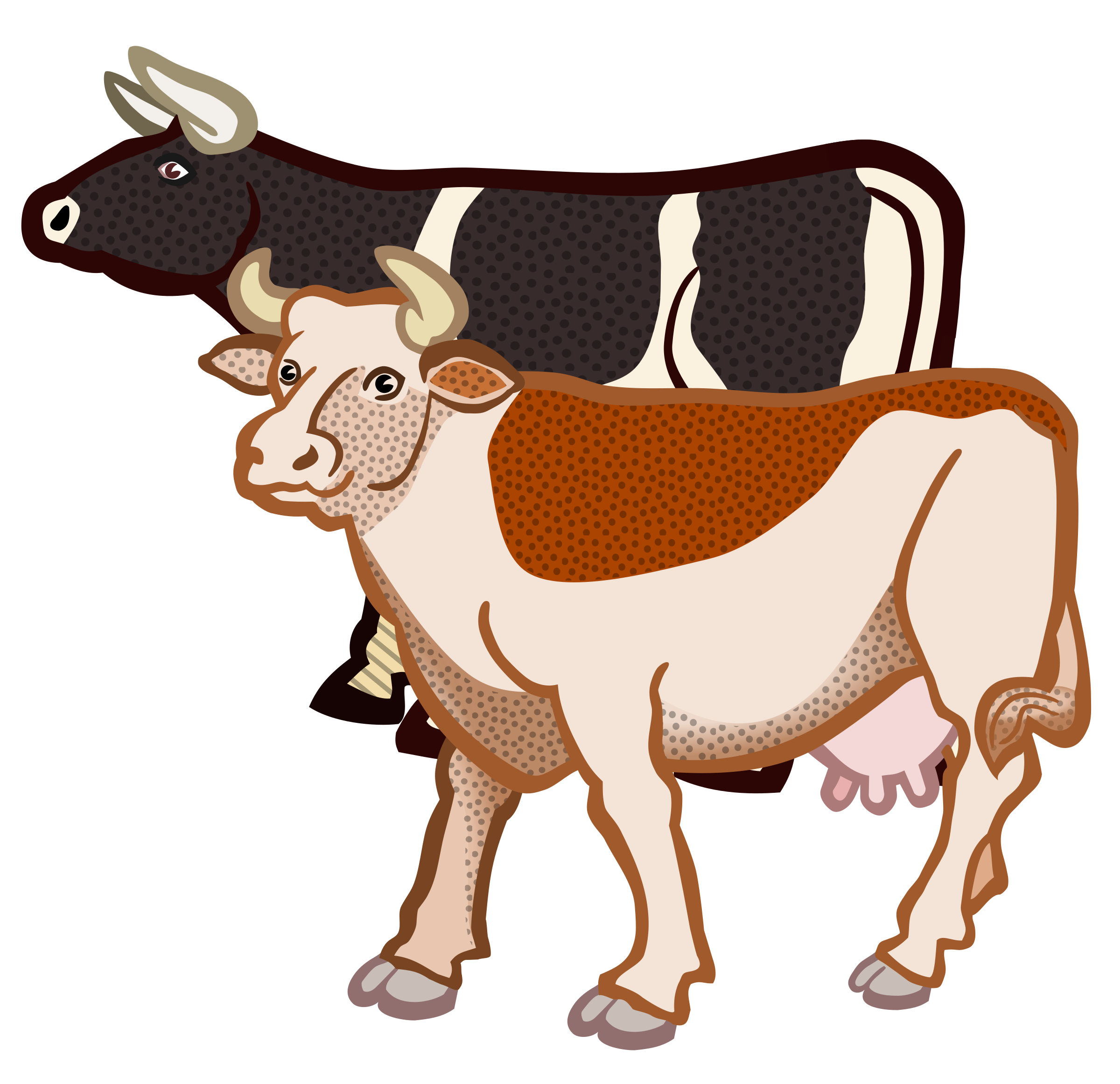 2 cows clipart vector transparent stock Two Cows Vector graphics image - Free stock photo - Public Domain ... vector transparent stock