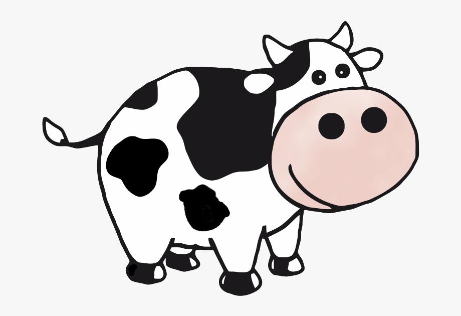 Cow clipart transparent image black and white Cow Clip Art At Clker Vector Clip Art Clipartix - Cow Clipart ... image black and white