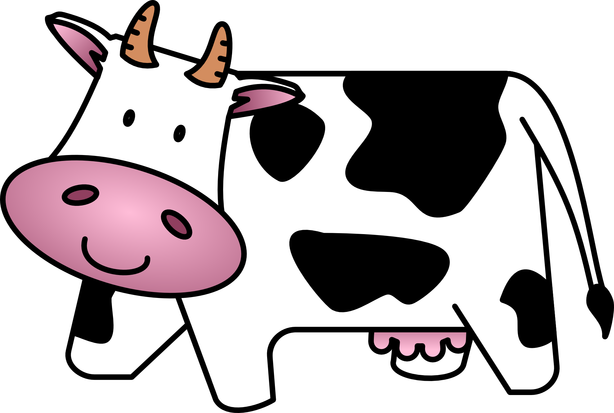 2 cows clipart picture library Cow clip art free cartoon clipart images 2 - ClipartAndScrap picture library