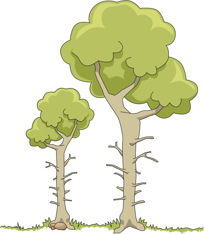 2 Trees Cliparts - Cliparts Zone clip art black and white download