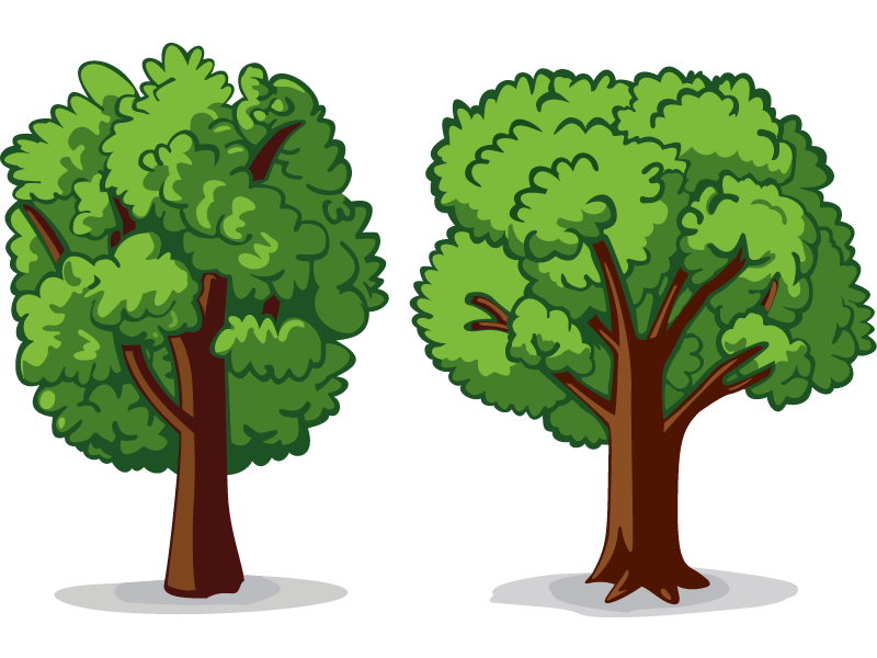 2 trees clipart svg Two Trees Drawing | Free download best Two Trees Drawing on ... svg