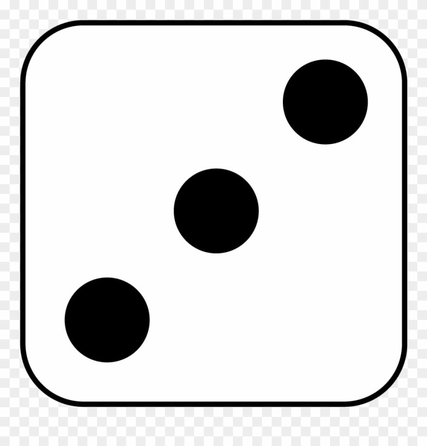 2 dots on dice clipart black and white jpg download Dice 7 Dots Clipart - The Original Frankenstein - Png Download ... jpg download