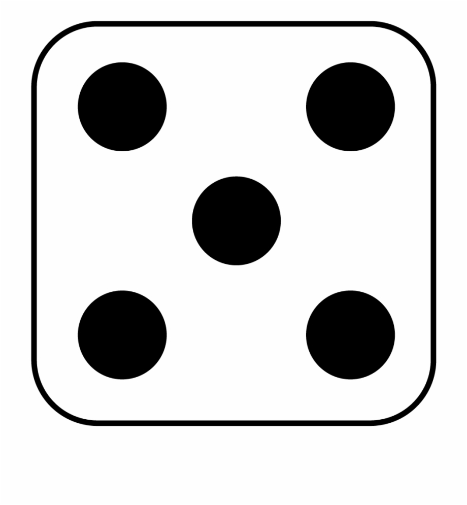 2 dots on dice clipart black and white clip art transparent stock Dots Clipart Five - 5 Side Of Dice, Transparent Png Download For ... clip art transparent stock