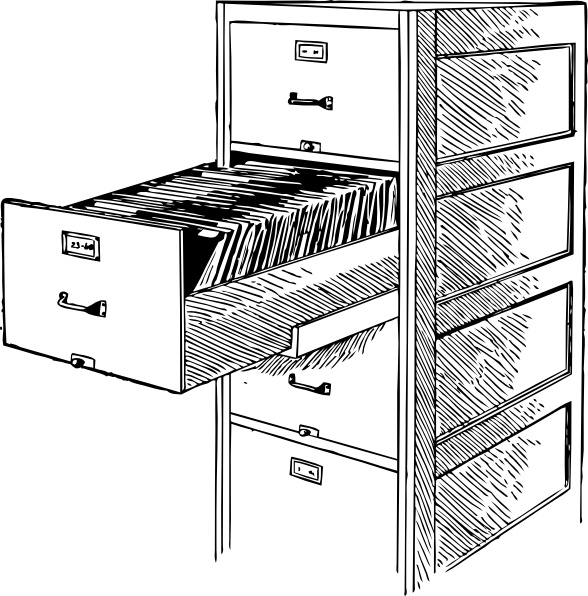 2 drawer file cabinet clipart png library Open File Cabinet clip art Free vector in Open office drawing svg ... png library